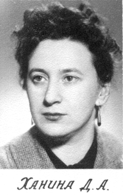 Ханина Д.А., учитель химии
